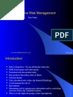 Quantitative Risk Management for Homeland security