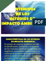Contenidos de Los Estudios de Impacto Ambiental