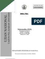 Paket 1 Soal Mat UN 2003-2004