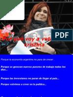 Porque Voto a Cristina