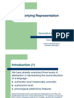 Underlying Representation Slidesx1