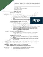Accountant / Student Resume Sample