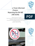 Making a Truly Informed Choice - Rejecting the RH Bill