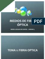 Medios de Fibra Óptica