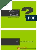 Paginas web o sitios web? cual es la diferencia.