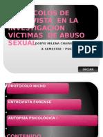 PROTOCOLOS DE ENTREVISTA EN LA INVESTIGACIÓN