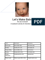 Let's Make Babies Genetics Activity