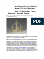 Royal Diamond Exibit to Mark Queen Elizabeths Diamond Jubilee Debtor of TheAt-Sik-Hata Nation