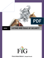 Listing and Issue of Security, India