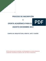 Oferta Academica Agosto Diciembre 2011