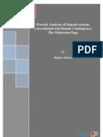 Wavelet Analysis of Deposit Returns