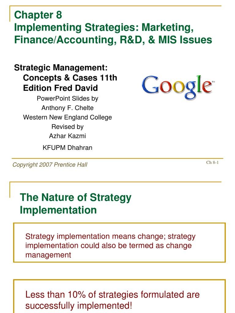 strategic management concepts 11th edition
