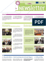 Newsletter No. 3 Marketing touristique pour la Grande Région