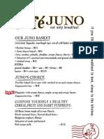 Cafe Juno Menu d