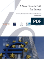 A New Growth Path for Europe Synthesis Report