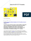 Key Design Issues for IP CCTV Security Systems