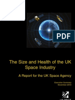 The Size and Health of the UK Space Industry 2010