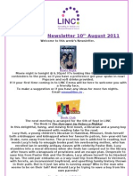 LINC Newsletter 10th August 2011