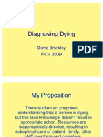 D Brumley Diagnosing Dying