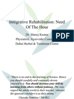 Integrative Rehabilitation Need of Hour