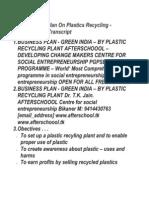 15 Business Plan on Plastics Recycling