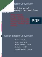 Ocean Energy Conversion 1