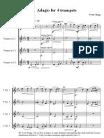 Adagio for 4 Trumpets