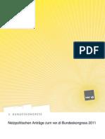 Netzpolitischen Anträge zum ver.di Bundeskongress 2011