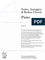Abrsm Piano Scales g4