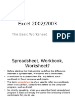 Excel Lesson 01 - The Basic Worksheet