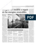 Oregón un modelo a seguir en las energías renovables