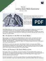 Twitter und anderes Social Media Gezwitscher