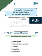 2011-07-21 - Samet - CFM2011 - Détection ultrasonore - Présentation