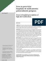 Erros ma prescrição hospitalar de medicamentos potencialmente perigosos (1)