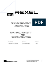 Service and Parts Manual Rexel Shredder 250-1150-1250