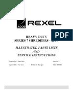 service and parts manual rexel shredder 250 1150 1250 electrical rh ferryvanschaik nl rexel 500x shredder service manual rexel 500x shredder service manual