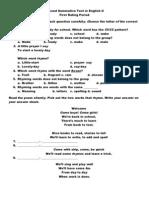 Second Summative Test in English II