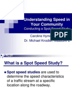 Draft Spot Speed Study Training
