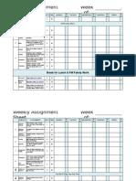 Weekly Workbox Assignment Sheet