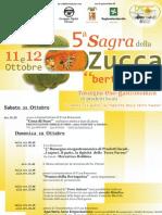 Locandina Sagra di Dorno (PV) ottobre 2008