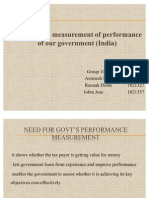 Measurement of Performance of Govt of India