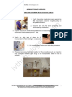 Incorporation of Drug Into IVF Bottle or Bag