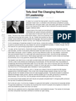 Tofu and the Changing Nature of Leadership