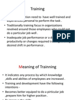 Trainning and Development