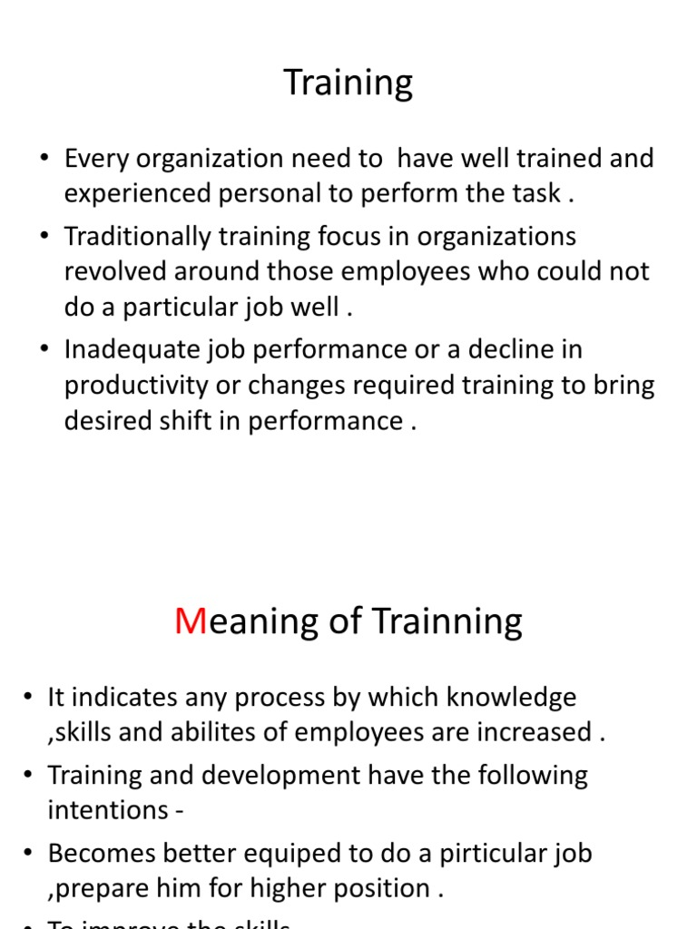 trainning need analysis Management training requires assessment and analysis which is explained in effective hr this presentation explains the significance of 'needs analyses' in tra.