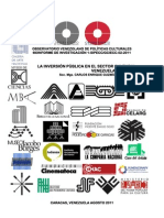 La Inversion Publica Cultural en Venezuela 1965-2011