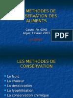 méthodes de Conservation GUITARNI