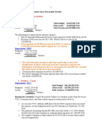 Variance Analysis Oct'06
