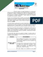 MANUAL DE PROCEDIMIENTOS DE RECEPCIÓN