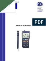 Manual Medidor Gas Pce Ga70